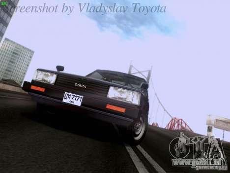 Toyota Corolla TE71 Coupe für GTA San Andreas Rückansicht