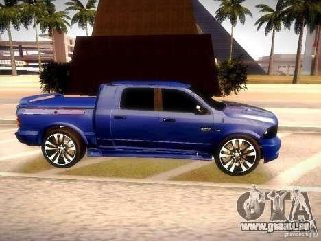 Dodge Ram R/T 2011 pour GTA San Andreas vue de droite