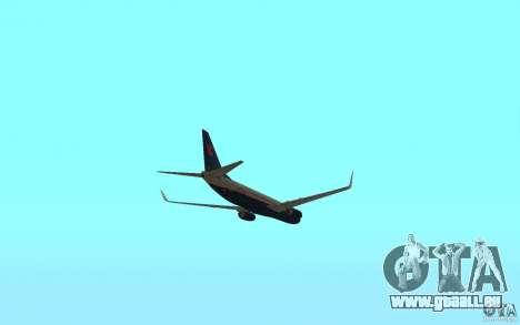Boeing 737-800 pour GTA San Andreas vue intérieure