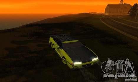 Lime Vinyl For Elegy pour GTA San Andreas vue intérieure