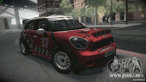 Mini Countryman WRC für GTA San Andreas Rückansicht
