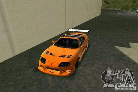 Toyota Supra Fast and the Furious pour une vue GTA Vice City de la gauche