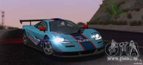 McLaren F1 JGTC Tuning 1995 pour GTA San Andreas salon