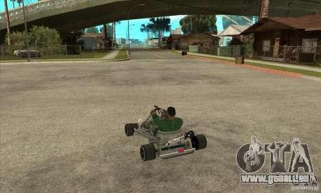 Stage 6 Kart Beta v1.0 pour GTA San Andreas sur la vue arrière gauche