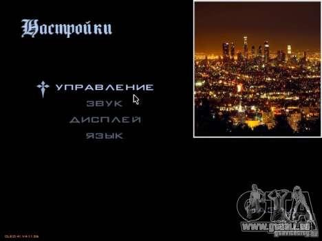 Nouveau menu dans le style de Los Angeles pour GTA San Andreas deuxième écran