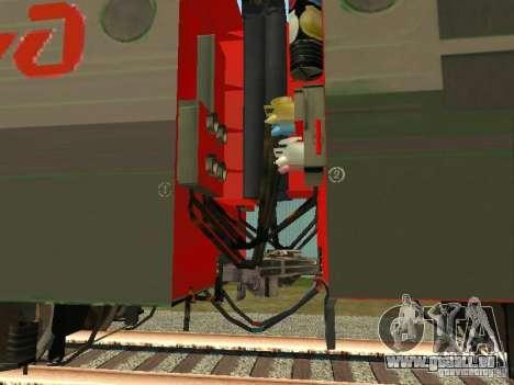 Vl80m-1785 Russische Eisenbahnen für GTA San Andreas Rückansicht