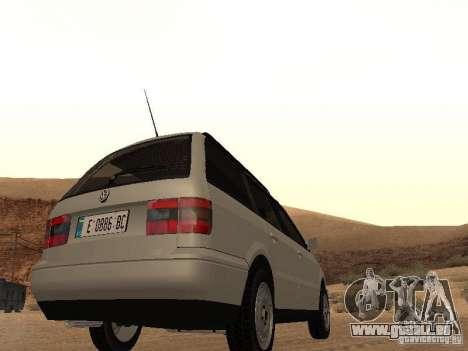 Volkswagen Passat B4 für GTA San Andreas Rückansicht