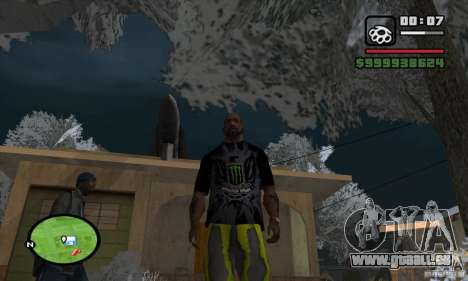 Monster energy suit pack pour GTA San Andreas