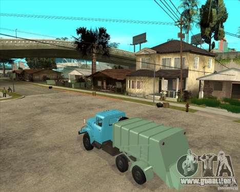 Camion à ordures ZIL 131 pour GTA San Andreas laissé vue