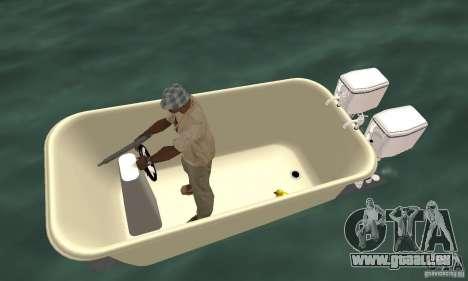 Bathtub Dinghy für GTA San Andreas