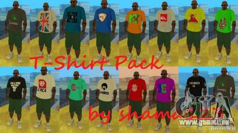 T-Shirt Pack by shama123 pour GTA San Andreas