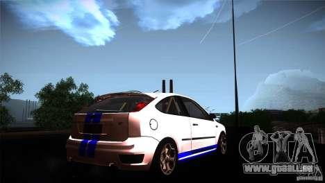 Ford Focus 2 Coupe pour GTA San Andreas sur la vue arrière gauche
