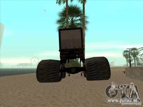 Remorque pour camion monstrueux pour GTA San Andreas sur la vue arrière gauche