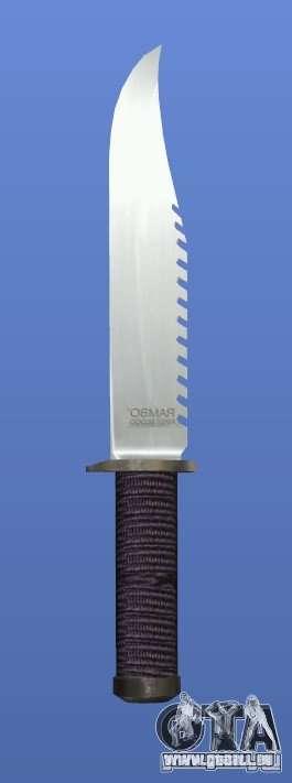 Couteau Rambo sans signature pour GTA 4 troisième écran