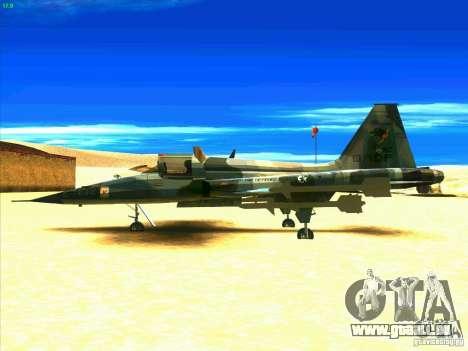 F-5E Tiger pour GTA San Andreas laissé vue