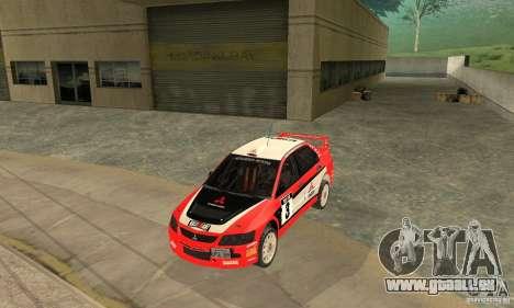 Mitsubishi Lancer Evolution IX für GTA San Andreas Unteransicht