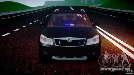 Skoda Octavia Scout Unmarked [ELS] pour GTA 4 est une vue de dessous