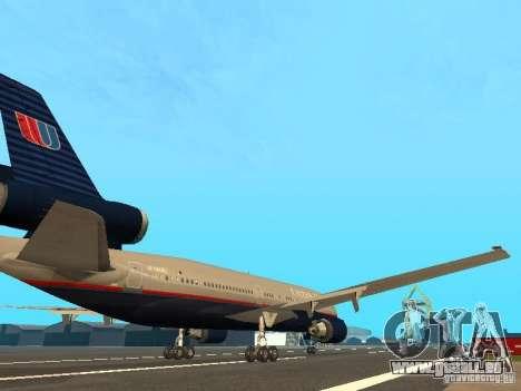 McDonell Douglas DC10 United Airlines für GTA San Andreas rechten Ansicht
