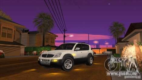 SsangYong Rexton 2005 pour GTA San Andreas laissé vue