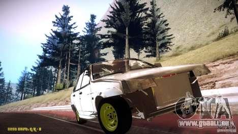 VAZ 21099 Hobo pour GTA San Andreas vue arrière