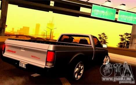 GMC Syclone Stock für GTA San Andreas rechten Ansicht