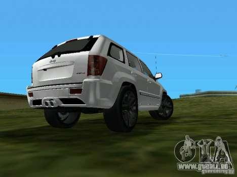 Jeep Grand Cherokee SRT8 TT Black Revel pour une vue GTA Vice City de la gauche