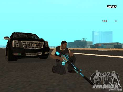 Black & Blue guns für GTA San Andreas fünften Screenshot