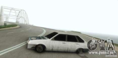 Vaz 2109 Hobo pour GTA San Andreas vue arrière