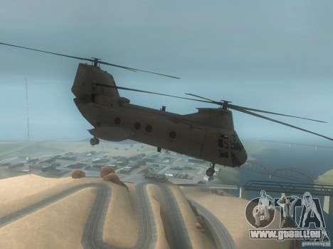CH46 pour GTA San Andreas sur la vue arrière gauche