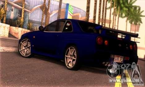 Nissan Skyline R34 GT-R Tunable pour GTA San Andreas laissé vue