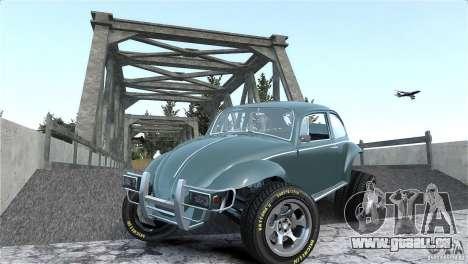 Baja Volkswagen Beetle V8 pour GTA 4 vue de dessus