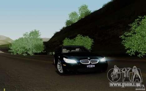 BMW M5 2009 für GTA San Andreas zurück linke Ansicht
