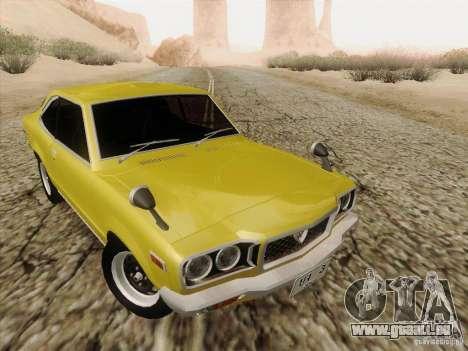 Mazda Savanna RX3 pour GTA San Andreas vue intérieure