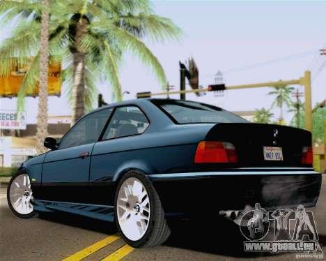 BMW M3 E36 New Wheels pour GTA San Andreas laissé vue