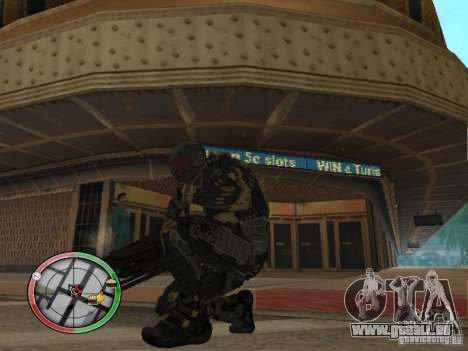 Armes exotiques de Crysis 2 pour GTA San Andreas troisième écran