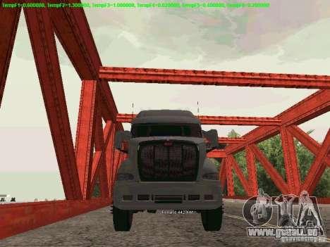 Peterbilt 387 pour GTA San Andreas sur la vue arrière gauche
