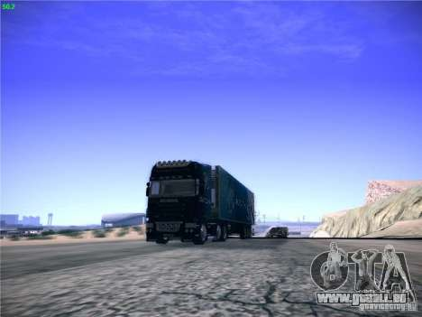 Scania R620 Dubai Trans pour GTA San Andreas sur la vue arrière gauche