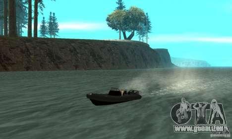 GTAIV Dinghy pour GTA San Andreas vue intérieure