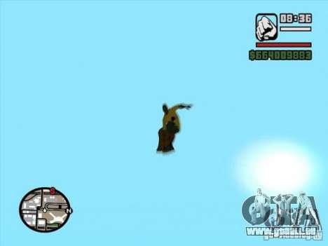 Snowboard für GTA San Andreas zurück linke Ansicht