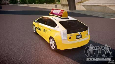 Toyota Prius NYC Taxi 2011 pour GTA 4 Vue arrière de la gauche