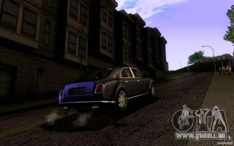 Bentley Mulsanne 2010 v1.0 pour GTA San Andreas vue de droite