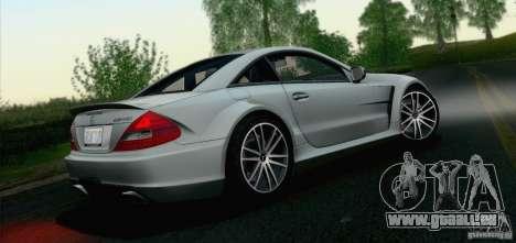Mercedes-Benz SL65 AMG Black Series pour GTA San Andreas vue arrière
