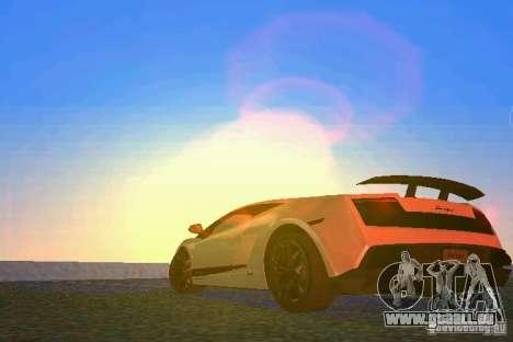 Lamborghini Gallardo LP570 SuperLeggera für GTA Vice City zurück linke Ansicht