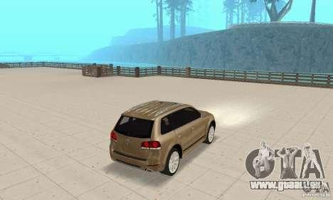 Volkswagen Touareg 2008 pour GTA San Andreas laissé vue