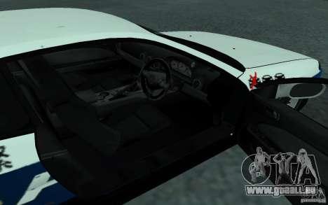 Nissan Silvia S15 Police pour GTA San Andreas vue arrière
