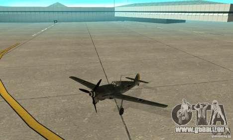 Bf-109 pour GTA San Andreas laissé vue