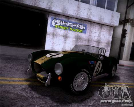 Shelby Cobra 427 Full Tunable für GTA San Andreas Innenansicht