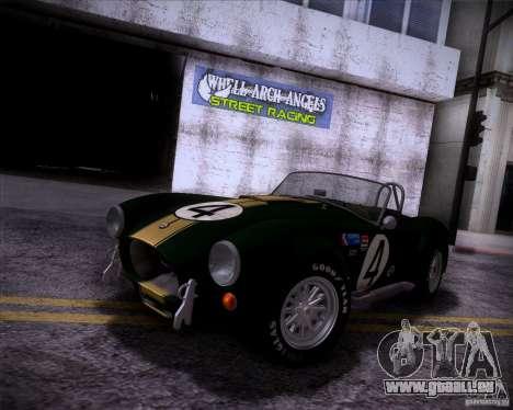 Shelby Cobra 427 Full Tunable pour GTA San Andreas vue intérieure