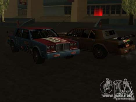 GreenWood Racer für GTA San Andreas Rückansicht