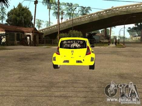 Dacia Sandero Speed Taxi pour GTA San Andreas sur la vue arrière gauche